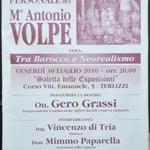 Il maestro Antonio Volpe tra Barocco e Neorealismo