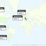 Visite da tutto il mondo